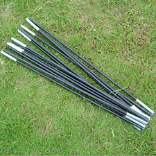 Reliable Black Fiberglass Tent Pole Kit 7 Sections Camping Travel Replacement TO