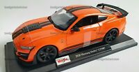 MAISTO 1:18 Scale Diecast Model Car 2020 Ford Mustang Shelby GT500 in Orange
