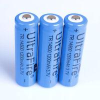 2 PCs 3.7V 1200MAH 14500 AA Rechargeable Li-ion Battery Blue Batteries