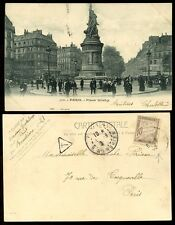 FRANCE 1903 POSTAGE DUE on PPC PARIS Place GLICHY