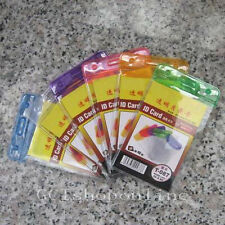 Lot of 6 Vertical Mix ID Card Badge Holder Business