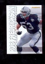 1995 Fleer ROB FREDRICKSON Oakland Raiders Rookie Sensation Insert Card Mint