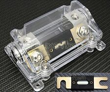 IN CAR AUDIO VIDEO STEREO  SILVER ANL FUSE HOLDER 0 2 4 GAUGE 200 AMP 200A 125S
