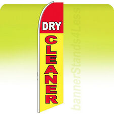 Feather Swooper Flutter Banner Sign Tall 11.5' Flag - Dry Cleaner yb