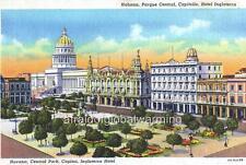 Old Photo. Havana, Cuba. Central Park - Capitol - Inglaterra Hotel