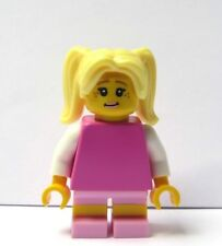 LEGO Pretty Female Girl Minifigure Figure Pink Outfit Blonde Ponytail Hair