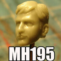 """MH195 Custom Cast Male head for use with 3.75"""" GI Joe Star Wars Marvel figures"""