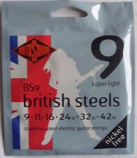 Rotosound BS9 British Steels, electric guitar strings, Super light, nickel free