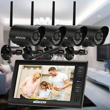 "Wireless DVR 4CH Kit 7"" TFT Motion Detection Recording CCTV Camera 3HP3"