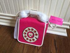 NWT Betsey Johnson Crossbody Kitsch Call Me Pink Telephone Handbag Working Phone