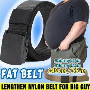 Fat Man Nylon Waist Belt Tactical Waistband Lengthen Military Web Belt Casual
