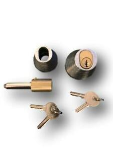 Roller Shutter Bullet Locks Oval and Housings (1 Pair With 4 Keys) Free Postage