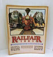 VTG Railfair Sacramento CA Grand Opening Poster 1981 Trains Railroad Museum