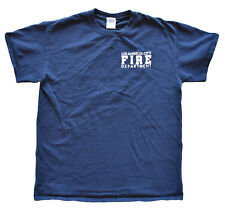 Los Angeles California Fire Department Mens T-Shirt M Blue Short Sleeve Cotton