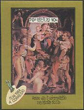 LAOS Bloc N°82 ** Bf Tableau, Le Corrège, 1984 painting A. Corregio Sc# 576 MNH