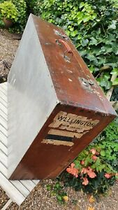 Nice Old Wood and Aluminium Carpenter's Toolbox Box with drawer