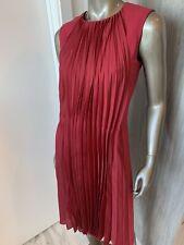Maison Martin Margiela Burgundy Sleeveless Pleated Dress Sz 40/ 4 Small NWT