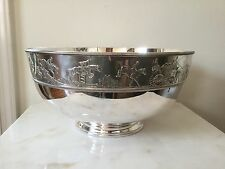 Large Franklin Mint-The Equestrian Bowl Silver Plate 1978 HQB-1.           *2526