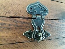 Metal buckle catch latch hasp small box antique bronze finish turn buckle C108
