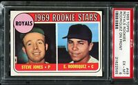 1969 Topps Baseball #49 KANSAS CITY ROYALS ROOKIE STARS RC UER ERROR PSA 6 EX-MT