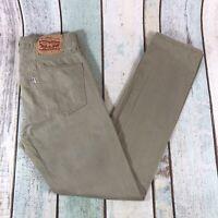 Vintage LEVI'S 510 WHITE TAB Super Skinny Fit Men's Beige Jeans W30 L30