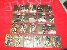 1999 SKYBOX MOLTEN METAL 21 DIFF GOLD PARALLEL TOP NOTCH AND GRIDIRON GODS (E6)