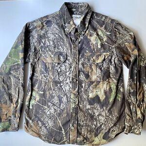 Mossy Oak Field Staff Long Sleeve Camo Camouflage Hunting Youth XL Shirt