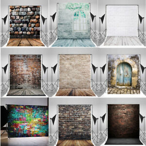 10x10FT Vintage Brick Wall Photo Backdrops Vinyl Photography Background Props LZ