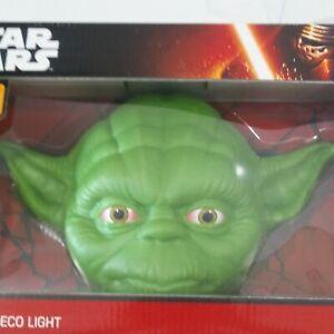 Yoda Head 3D Deco Light Disney New in Box - Night Light Star Wars LED Bulbs