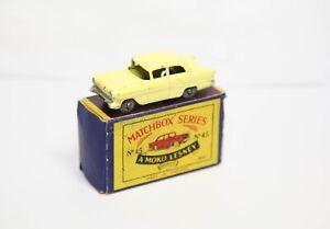 Lesney Matchbox No 45 Vauxhall Victor In Its Original Box - Nice Vintage Model