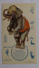 1939 Ice cream cards F51-2 Circus Cup Stands ups Elephant