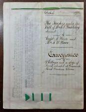 1934 Vellum Indenture Baddeley to Howe for Land in Ranscombe Road, Brixham