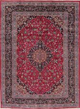Black Friday Deal Traditional Area Rug Floral Hand-Knotted Oriental Carpet 8x11