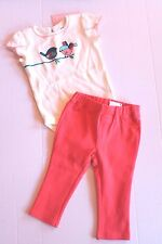 Gymboree Baby Girl 12-18 Months Forest Friends Bodysuit & Orange Pants Outfit