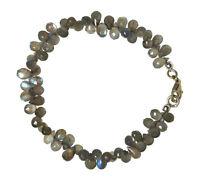 LABRADORIT Armband 925 Silber Armkette D763