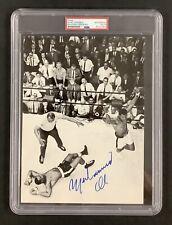 Muhammad Ali Signed Photo vs Liston Vintage 70's Full 2 Ali Autographs PSA/DNA
