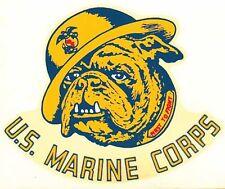 USMC  US Marine Corps Corp Marines  Dog    Vintage-Style Travel Decal/Sticker