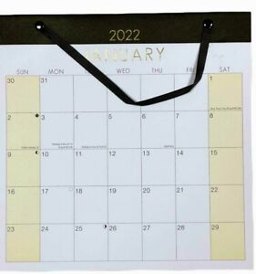2022 LARGE MONTH TO VIEW PLANNER QUALITY CALENDER WALL HANGING PLANNER RIBBON