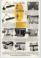 1957 PAPER AD Flexo Litemaster Flexarm Litemaster Lamp Adjustable Lights Desk