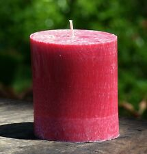 80hr COCONUT SAFFRON Tropical Scented Natural OVAL Pillar Candle FREE SHIPPING