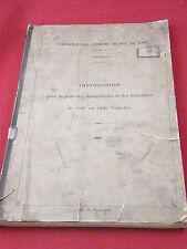 Compagnie de chemins de fer de l'est  pose de voie en rails Vignoles 1884