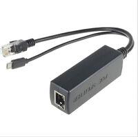 Micro USB / DC Active PoE Splitter Network Power Over Ethernet 24V/48V ~12V/5V