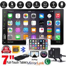 "7"" 2DIN Auto Car MP5 MP3 Player Bluetooth Touch USB FM Stereo Radio + Camera USA"