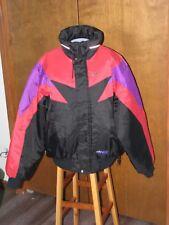 VTG SkiDoo Bombardier Black,Purple,Red Snowmobile Racing Coat Jacket Sz L NICE