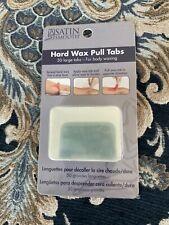 Satin Smooth Hard Wax- Hard wax pulltabs 50 Large Tabs. Free shipping