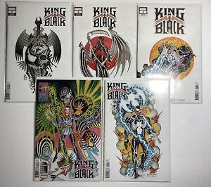 King in Black #1-5 1 2 3 4 5 MARVEL Complete Ian Bederman Tattoo Variant Set