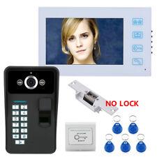 """7"""" TFT Fingerprint Recognition RFID Password Video Door Phone Intercom Doorbell"""