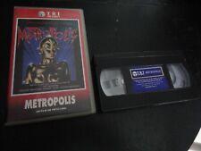 METROPOLIS FRITZ LANG 1990 VHS ESPAÑA PAT BENATAR MORODER MERCURY TYLER USED