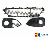 BMW NEW GENUINE 1 F20 F21 15-16 FRONT M SPORT BUMPER LOWER GRILL SET OF THREE
