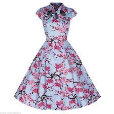 Unbranded Cotton Blend Cap Sleeve 50's, Rockabilly Women's Dresses